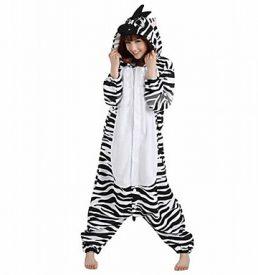 zebra onesie voorkant