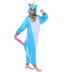 eenhoorn blauw onesie voorkant